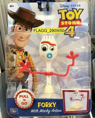 Toy Story 4 Movie *PULL N GO FORKY FIGURE* With Wacky Action Disney 2019 NEW