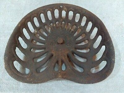 135.  Antique Vintage Cast Iron Tractor seat Bamfords