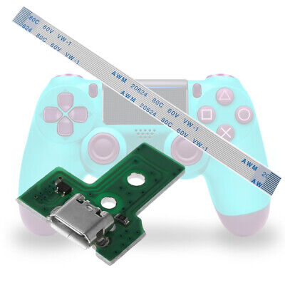 1 Set For JDS-030 PS4 Controller USB Charging Port Board With 12Pin Flex Cable