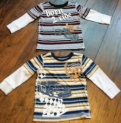 Lot of 2 Baby Boy Toddler Koala Baby Long Sleeve Shirt Size 12 Months Cotton VGC