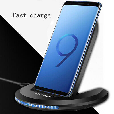 Wireless Charger Qi Fast Charging Stand Dock For Samsung S8 S9 S10 Plus Note 9