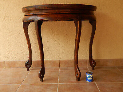 Chinese antique demi-lune elm wood table