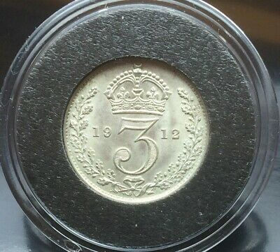 1912 King George V Silver Threepence UNC