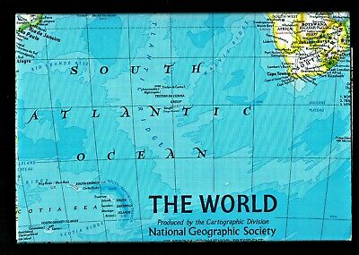 ⫸ 1981-12 World Map / World Ocean Floor Map – National Geographic Poster  X #AI