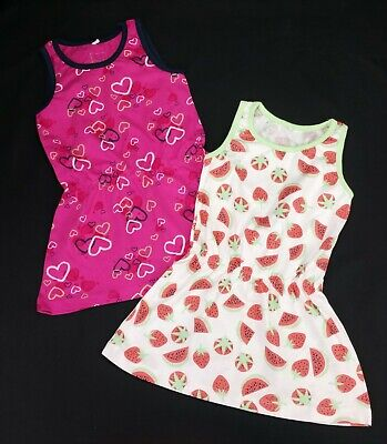 Baby Girls Clothes NAME IT X2 PACK Sun Summer T-Shirt Dresses 9-12 Months BNWoT