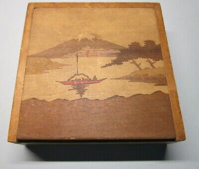 Asian Antique Wooden Japan/Chinese Game Box with Numbers & Pegs