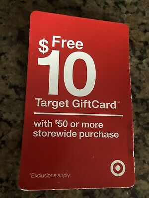 TARGET Coupon $10 Off Storewide Purchase Of $50 Or More Expires 9/02/19.