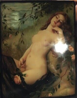 """Russian Lacquer Box """"The Lark Sings """" Nide"""