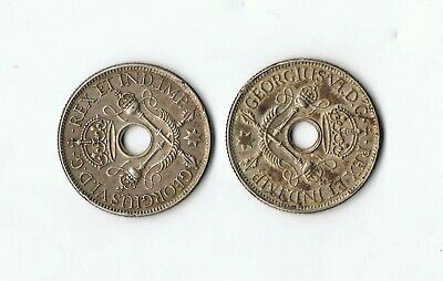2 x 1938 .925 SILVER TERRITORY OF NEW GUINEA SHILLING COIN