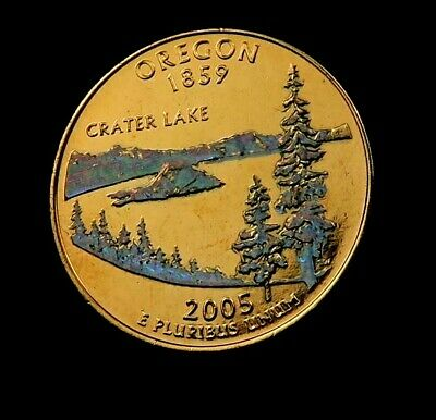 2000-D NEW HAMPSHIRE State Quarter // 24K GOLD PLATED +