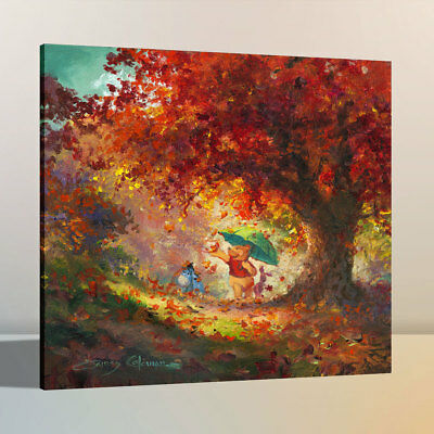 HD Oil Painting Art Print Canvas Disney Winnie The Pooh Home Wall Decor 12x12
