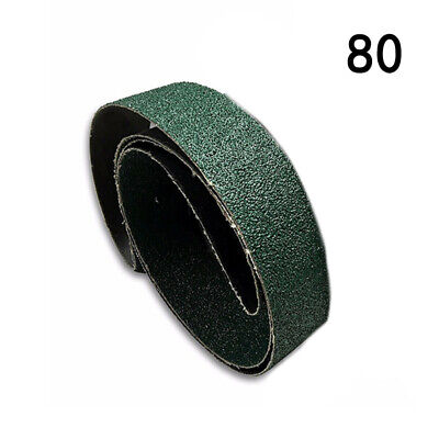 80Grit Sanding Belts 25x762mm Replacement Tools Grinding Abrasive 6Pcs