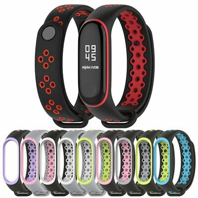 For Xiaomi Mi Band 3/4 Replacement Sport Silicone Strap Wristband Bracelet DQ