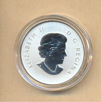 Canada 2015 Maple Leaf $10 Dollars pure silver coin with case and coa 15.87 gr.