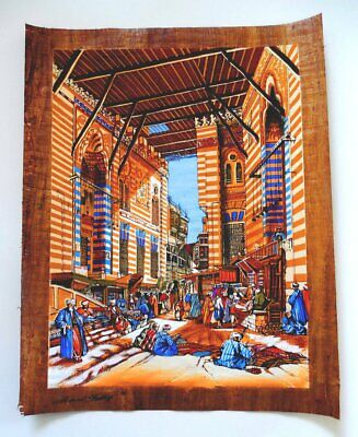 The Tentmakers of Cairo | Egyptian Folklore Papyrus Painting