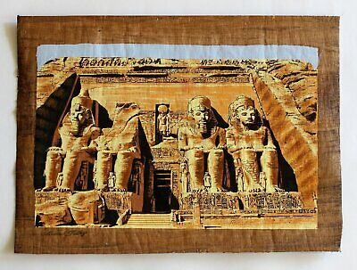The Great Temple of Abu Simbel | Ancient Egyptian Papyrus Painting