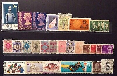 World Stamps 26 Stamp Mixture Var Countries Used Stamps (B10-102)