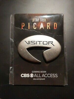 SDCC 2019 Star Trek Picard Visitor Pin from the Star Trek Universe CBS New