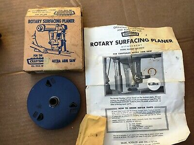 New Old Stock Vintage Sears Craftsman Rotary Surfacing Planer 605-29510