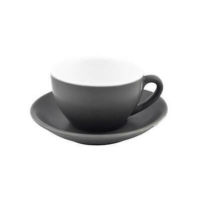 6x Large Cappuccino Cup & Saucer Set Slate Grey 280mL Bevande Coffee Cups Tea