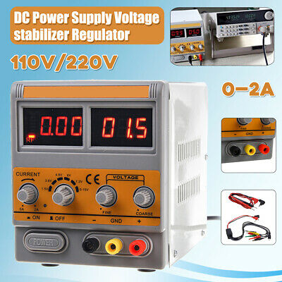 DC Power Supply Adjustable Lab Grade Test Dual Digital Precision Mobile Repair