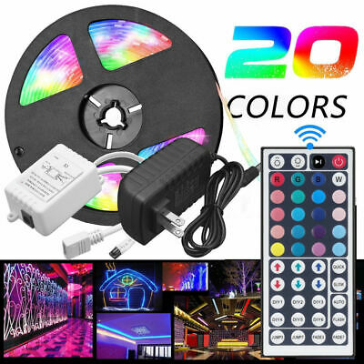 LED Strip Light 5050 SMD RGB 5M 300 Waterproof IR Controller 12V USPower Adaptor