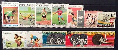 World Stamps 11 Stamp Mixture Var Countries Olympics Used Stamps (B7-87)