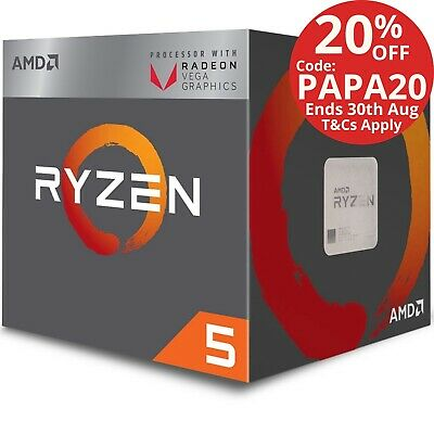 AMD Ryzen 5 2400G Processor 3.6GHz 4MB AM4 4 Core 8 Thread CPU Vega 11 Graphics