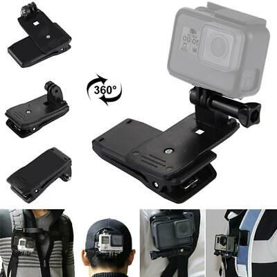 360° Rotary Backpack Hat Belt Clip Fast Clamp Mount For Gopro Hero3+/3/2/1 Use