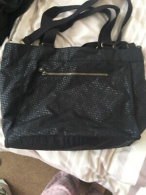 Large Black Kipling Tote Bag Shoulder Bag