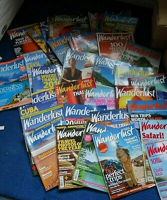 30+ Wanderlust Magazines Back Issues 2003 - 2012 - Excellent Condition Travel
