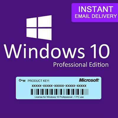 🔥Microsoft Windows 10 Pro Professional 32/ 64bit Genuine License Key Product Co