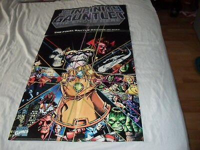 Infinity Gauntlet and Infinity War original promotional posters Thanos