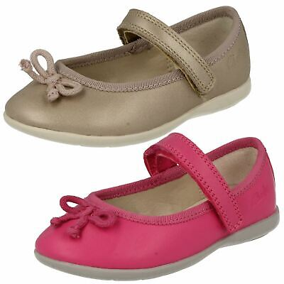 Girls Kids Infant Clarks Dance Joy First Hook & Loop Mary Jane Casual Shoes Size