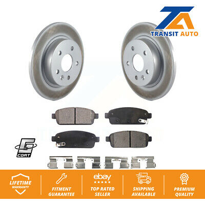 2013 For Chevrolet Trax Rear Anti Rust Coated Disc Brake Rotors and Ceramic Brake Pads Note: w//268mm Dia Rotor