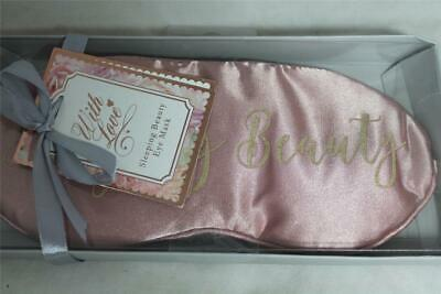 Sleeping Beauty Eye Mask Pink - Satin Feel Covered For Comfort