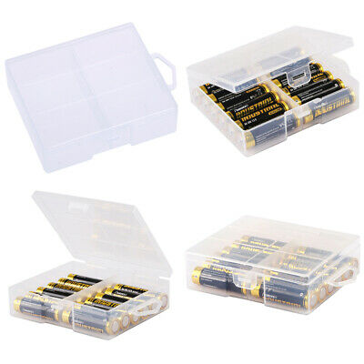 AA Battery Storage Case/Holder/Organizer/Box Clear Plastic For 24 AA Batter PJU