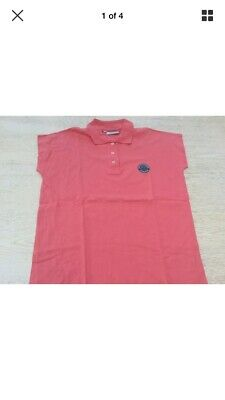 Official Wimbledon The Championships Tennis Ladies Size 10 Polo Shirt Pink