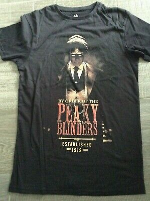 Official Peaky Blinders T Shirt Tommy Garrison TV Show Logo By Order of the