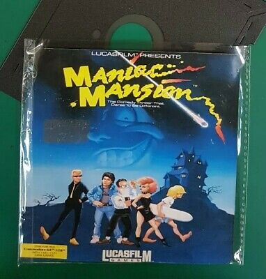 """MANIAC MANSION (Vers English) : floppy disc 5,25"""" Commodore 64 game (read before"""