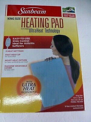 Sunbeam 732-500 EXCELLENT King Size Heating Pad with UltraHeatTechnology (B-18)