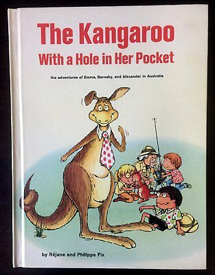THE KANGAROO WITH A HOLE IN HER POCKET ~ vintage Big Golden Book ~ Australia, VG
