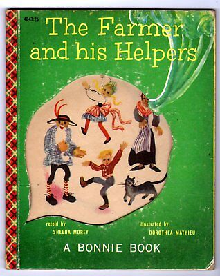 THE FARMER AND HIS HELPERS ~ die-cut Bonnie Book ~ many vintage childrens books!