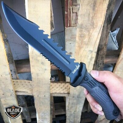 """13"""" TACTICAL SURVIVAL Rambo Army Bowie FIXED BLADE KNIFE Hunting w/ SHEATH NEW-u"""
