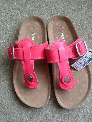 Next Girls Pink Toe post Sandals Size 1 Brand new with tags