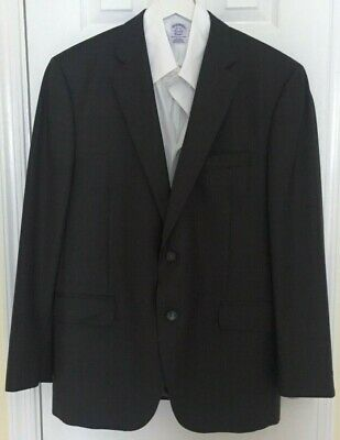 PETER MILLAR 100% Wool Dark Grey Dual Vent 2-Button Sport Coat Blazer Jacket 42R