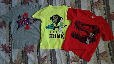 Lot Of 3 Oshkosh And Carter's Boy's size 4T T-shirt