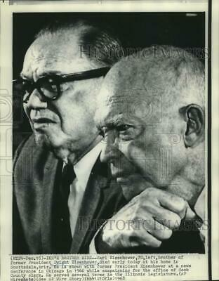 1968 Press Photo Ex-President Dwight Eisenhower with his brother Earl in Chicago