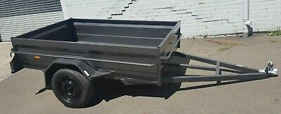 BOX TRAILER 8x5 HIGH SIDE HEAVY DUTY SPECIAL- free spare, LEDs & jockey wheel !!