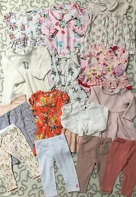 Baby Girls Floral Clothes Bundle 6-9 Months Ted Baker Cath Kids Next Zara Etc